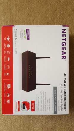 Hi speed Netgear wifi modem/router model D6000 3 weeks use as new