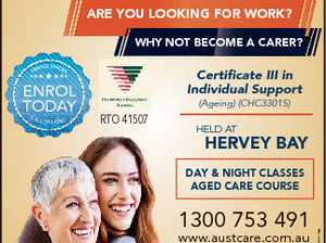 FEE-FREE TRAINING FOR YEAR 12 FEE-FREE TRAINING FOR YEAR 12 GRADUATES ARE YOU LOOKING FOR WORK? WHY NOT BECOME A CARER? ENROL TODAY CA LL US NOW! Certificate III in Individual Support (Ageing) (CHC33015) RTO 41507 HELD AT HERVEY BAY 1300 753 491 www.austcare.com.au START YOUR CAREER ...