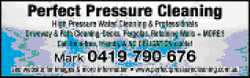 High pressure water cleaning & professionals