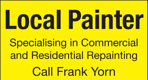 Local Painter Specialising in Commercial and Residential Repainting Call Frank Yorn 0457-486-080...