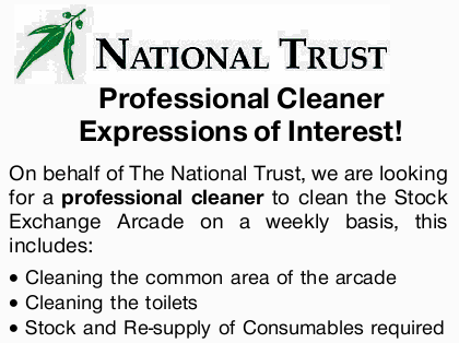 On behalf of The National Trust, we are looking for a professional cleaner to clean the Stock Exc...