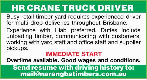 HR CRANE TRUCK DRIVER