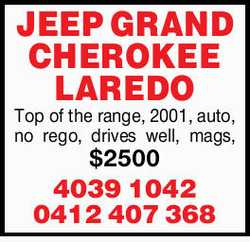 Top of the range  2001  Auto  Norego  Drives well  Mags