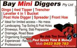 Dingo | 4wd Tipper | Trencher |