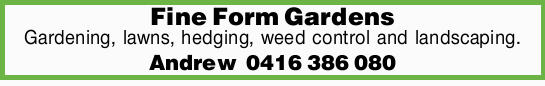 Gardening  lawns  hedging  weed control  landscaping.