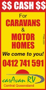 $$ Cash $$ For Caravans Motor hoMes 6307188aa & We come to you! 0412 741 591 caarAvan RV Central Queensland