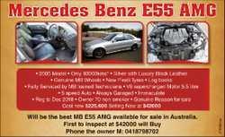 *2005 Model *Only 93000kms *Luxury Black Leather * Genuine MB Wheels *New Pirelli Tyres *Lo...