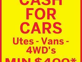ASHMORE AUTO WRECKERS CASH