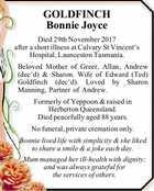 GOLDFINCH Bonnie Joyce