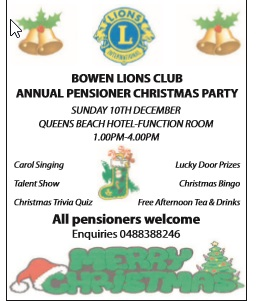 Annual pensioner christmas Party sunday 10th december Queens beach hotel function room 1 to 4. Ca...