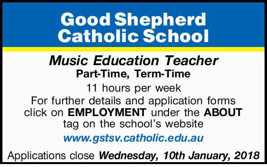 Good Shepherd    Catholic School    Music Education Teacher    Part-Time, Term-Time ...