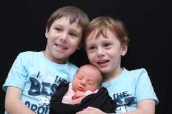 Craig and Jodi Spencer proudly announce the birth of Mitchell and Rhys's baby sister Mia Rose born 1...