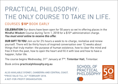 THE ONLY COURSE TO TAKE IN LIFE.