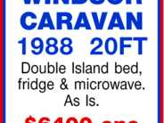 WINDSOR CARAVAN 1988 20FT
