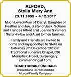 ALFORD, Stella Mary Ann