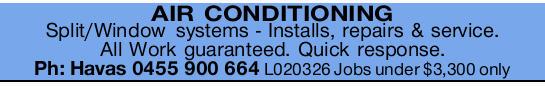Installs, repairs & service   All Work guaranteed   Quick response   Ph: Havas  ...