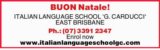 BUON Natale! ITALIAN LANGUAGE SCHOOL `G. CARDUCCI` EAST BRISBANE Ph.: (07) 3391 2347 Enrol now ww...