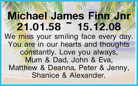 Michael James Finn Jnr
