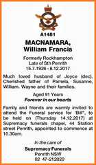 MACNAMARA, William Francis