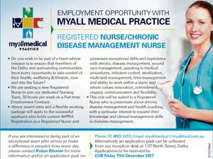 EmploymEnt opportunity with Myall Medical Practice rEgistErEd Nurse/chroNic disease MaNageMeNt Nurse If you are interested in being part of an exceptional team who strives to make a difference in people's lives every day, please contact Robyn Blissner for more information and/or an application pack on: Phone: 07 ...