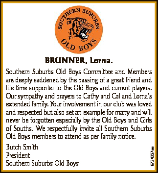 Southern Suburbs Old Boys Committee and Members are deeply saddened by the passing of a great fri...
