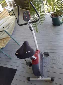 'Action' exercise bike  with comfortable gel seat.
