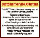 Customer Service Assistant