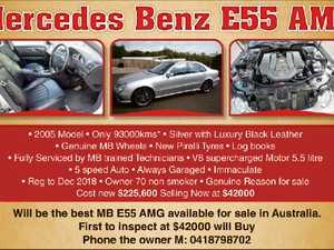 Mercedes Benz E55 AMG Silver