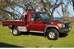 Diesel, 5 spd man, 203,650klms. One owner, used as a pick up vehicle. Price $44,000. Ph 040989247...