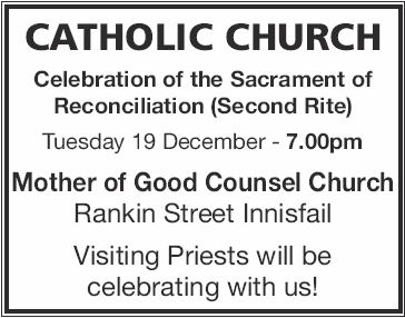 Mother of Good Counsel Church Rankin Street, Innisfail   Celebration of the Sacrament of Re...