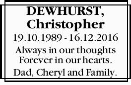 DEWHURST, Christopher