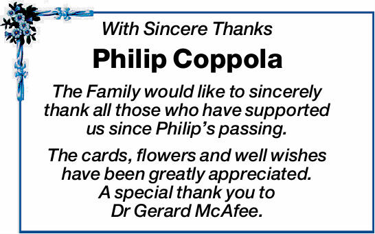With Sincere Thanks