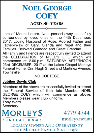 Noel George COEY
