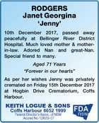 RODGERS Janet Georgina 'Jenny'