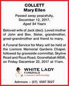 COLLETT Mary Ellen
