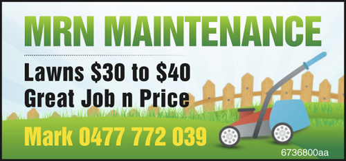 Lawns $30 to $40.