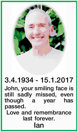 John, your smiling face is still sadly missed,