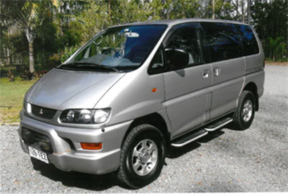 PEOPLE MOVER AWD family van, '98, Mitsubishi Delica, 8-seater, 111,300 kms, tint, new tyres...