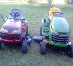 "RIDE ONS John Deere X300, new price $5000, sell $1475 + Husq 13HP, 42"" cut, $795. can deliv...."