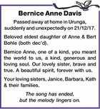 Bernice Anne Davis
