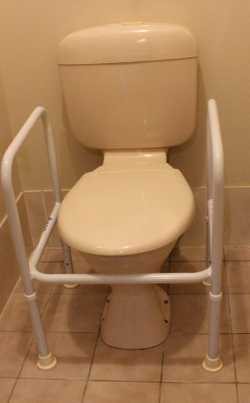 , Designed for people who require higher seating during toileting. They also have armrests to help p...