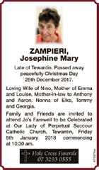 ZAMPIERI, Josephine Mary
