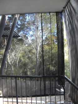 AWNINGS/BLINDS X 2. 3540 x 2100 and 2440 x 2100, External, Charcoal, 2 x 2 weave sunscreen, rope and...