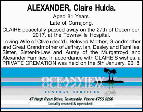 Aged 81 Years.