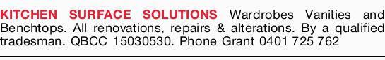 Wardrobes  Vanities  Benchtops  All renovations  Repairs  ...