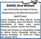 DAVIS, Erol William