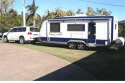 GOLF LINWOOD 21', 12v comp fridge, Honda gen, rear cam, solar, $48,500. TOYOTA LANDCRUISER,...