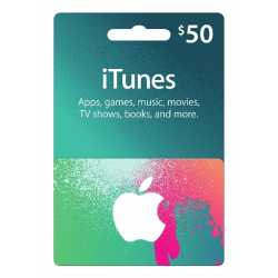 Two unused $50 iTunes gift cards for sale.