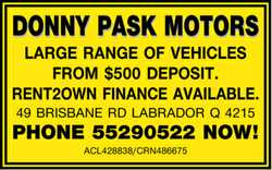 RENT2OWN FINANCE AVAILABLE