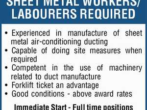 SHEET METAL WORKERS/LABOURERS REQUIRED